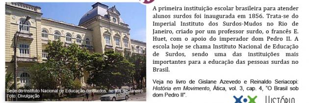 A primeira escola do Brasil para surdos