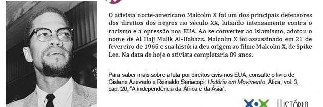 Malcom X  na luta contra o racismo