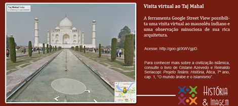 Visita virtual ao Taj Mahal
