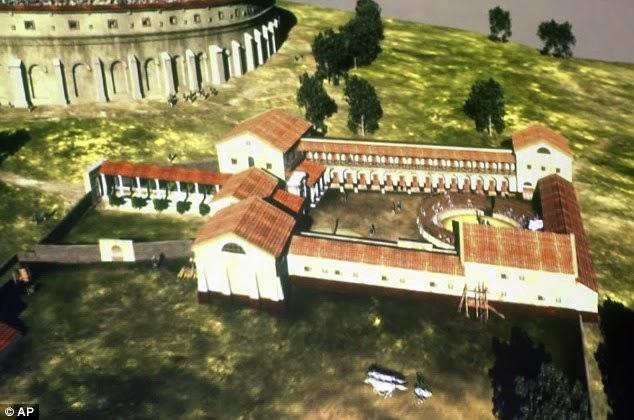 Escola de gladiadores recriada digitalmente por arqueólogos