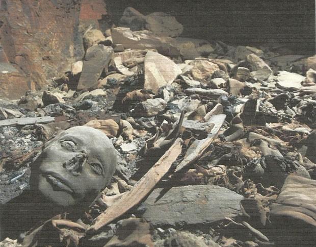 Múmias encontradas no Vale dos Reis, no Egito.
