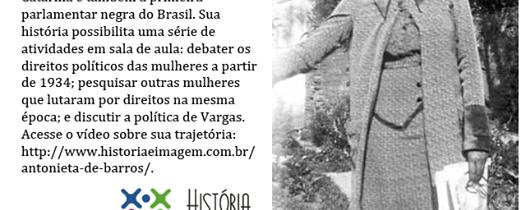 A primeira deputada negra do Brasil