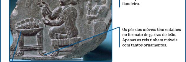 Representação de uma deusa ou uma cortesã do palácio de Susa
