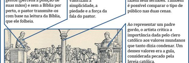 Pregação católica e protestante